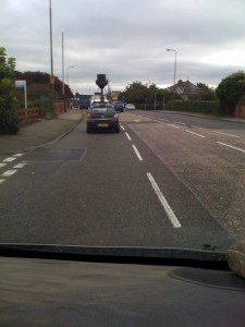 Google street view car in Edinburgh, Scotland
