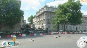 London street level map view of Downing street