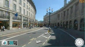 London street map view of Regent street