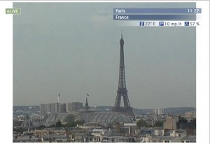 Live streaming webcam views of Paris in France
