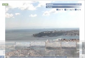 Live streaming webcam overlooking Istanbul in Turkey