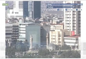 Live webcam views overlooking the city of Izmir in Turkey