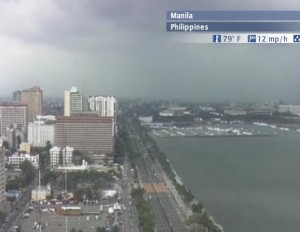 Live weather cam in Manila, the Philippines