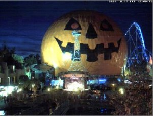 Live Halloween Pumpkin cam at the Europa Theme Park in Germany