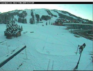 Live Courchevel ski weather cam, France