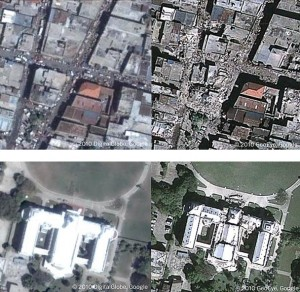 Live Google map view Haiti earthquake images